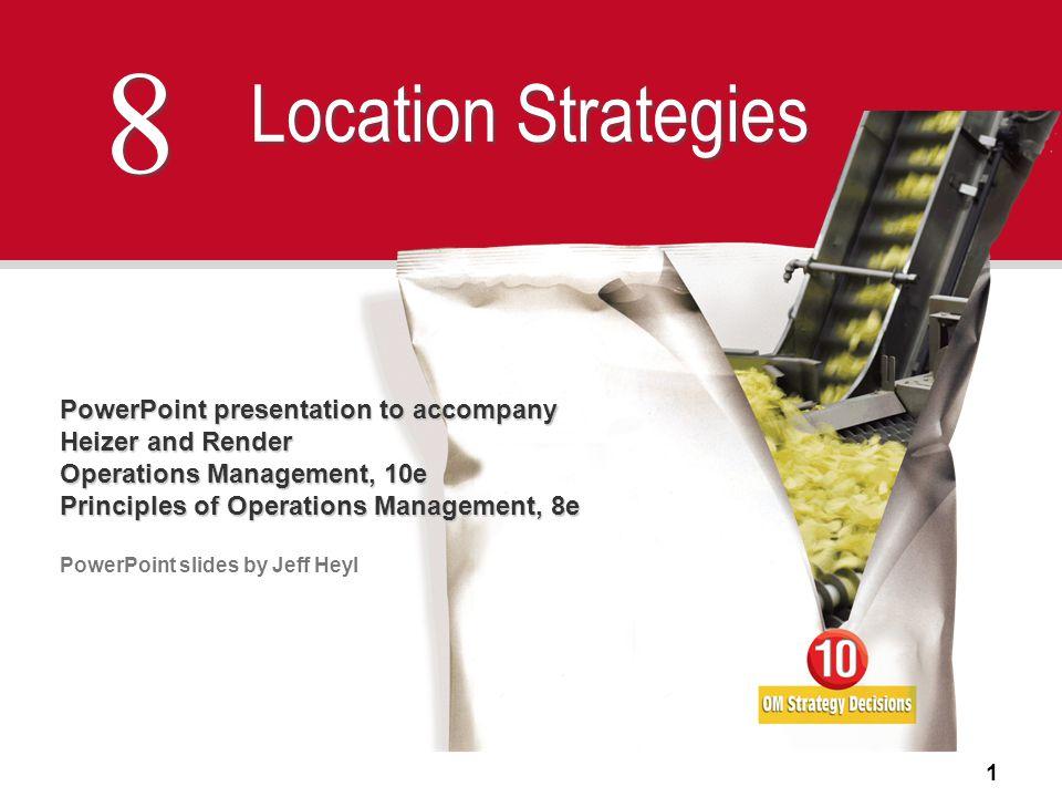 8 Location Strategies PowerPoint presentation to accompany