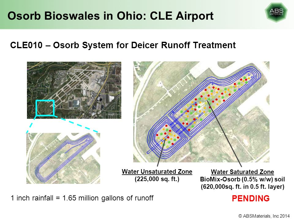 Osorb Bioswales in Ohio: CLE Airport