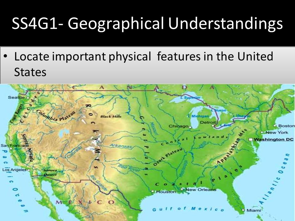 United States Physical Geography YouTube USA WFlags Durable Wall