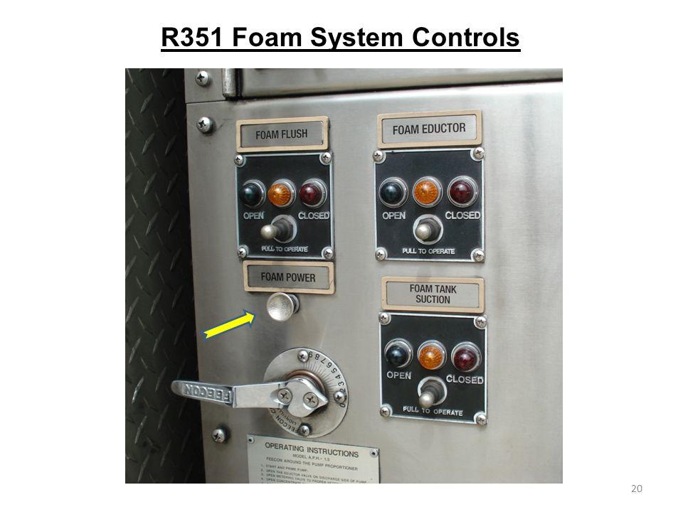R351 Foam System Controls