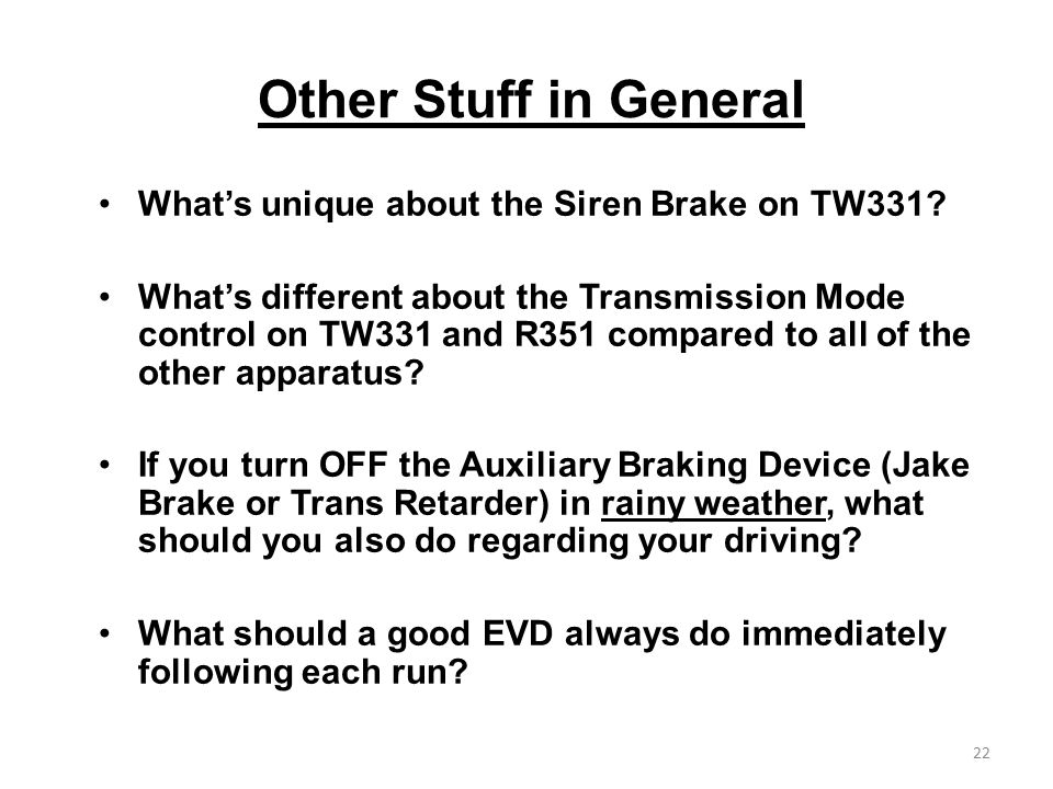 Other Stuff in General What's unique about the Siren Brake on TW331