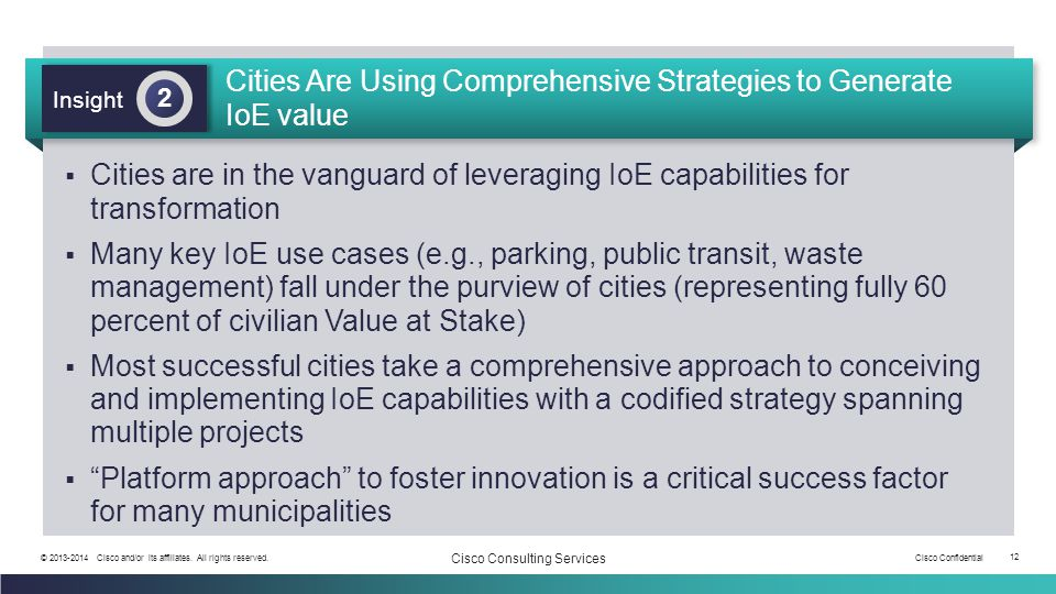 Cities Are Using Comprehensive Strategies to Generate IoE value