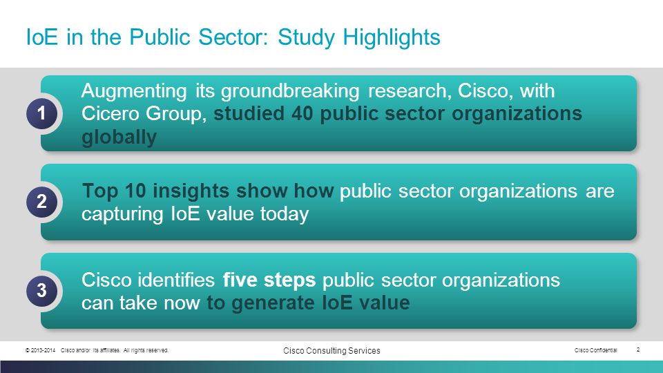 IoE in the Public Sector: Study Highlights