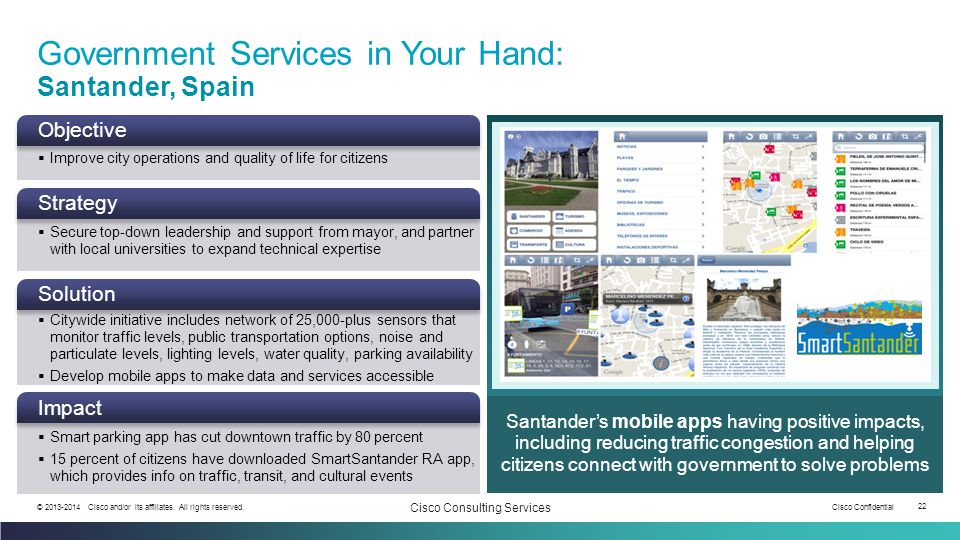 Government Services in Your Hand: Santander, Spain