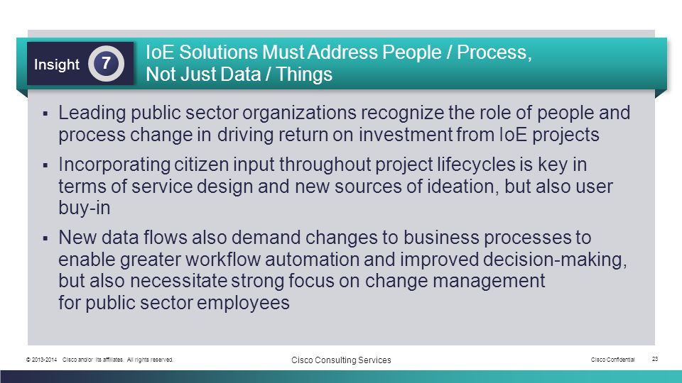 IoE Solutions Must Address People / Process, Not Just Data / Things