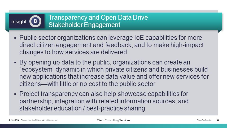 Transparency and Open Data Drive Stakeholder Engagement
