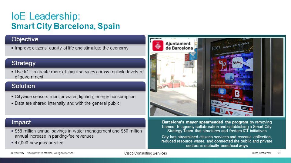 IoE Leadership: Smart City Barcelona, Spain