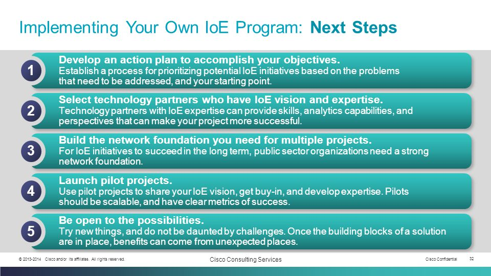 Implementing Your Own IoE Program: Next Steps
