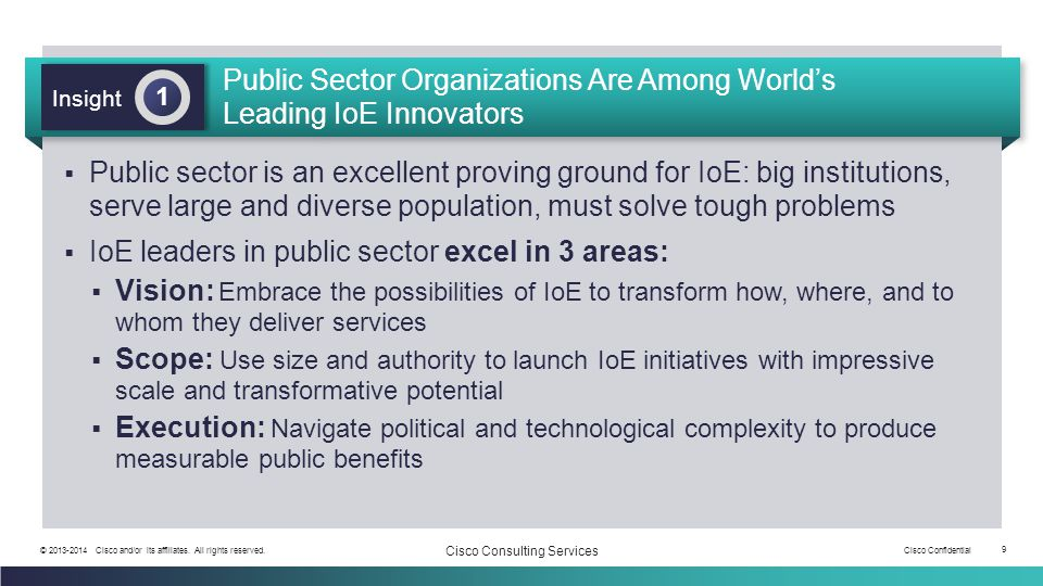 Public Sector Organizations Are Among World's Leading IoE Innovators