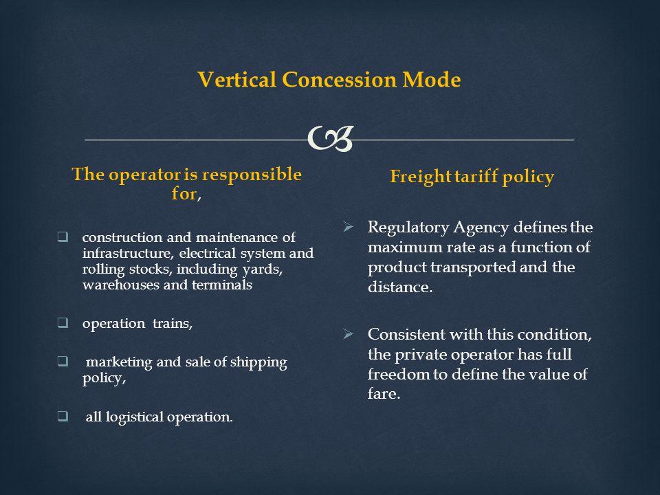 Vertical Concession Mode