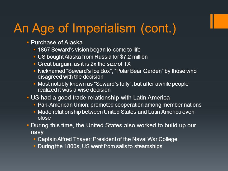 An Age of Imperialism (cont.)