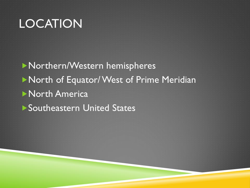 location Northern/Western hemispheres