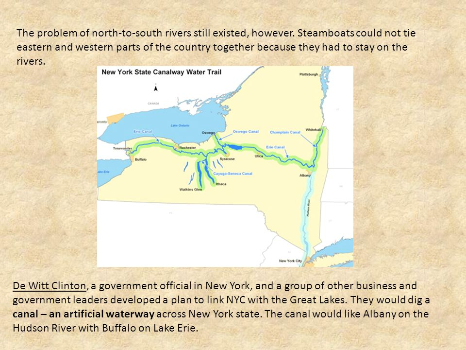 The problem of north-to-south rivers still existed, however