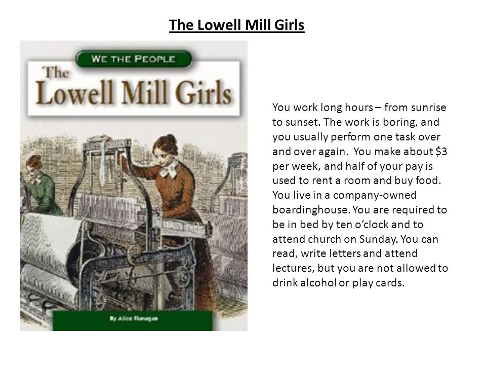 The Lowell Mill Girls