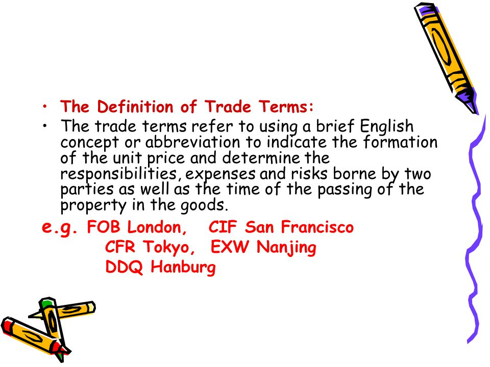 terms of trade definition pdf