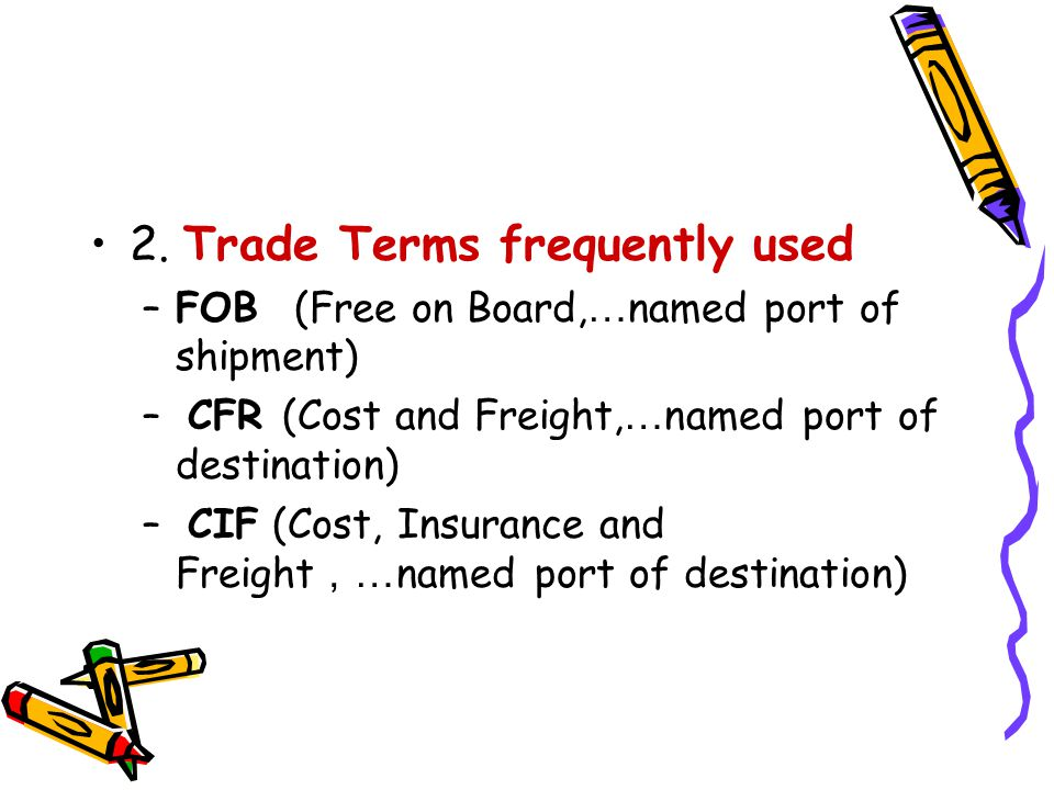 2. Trade Terms frequently used