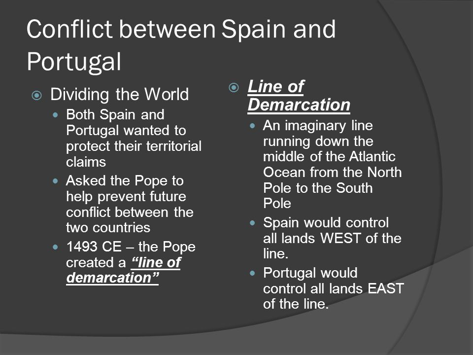 Conflict between Spain and Portugal