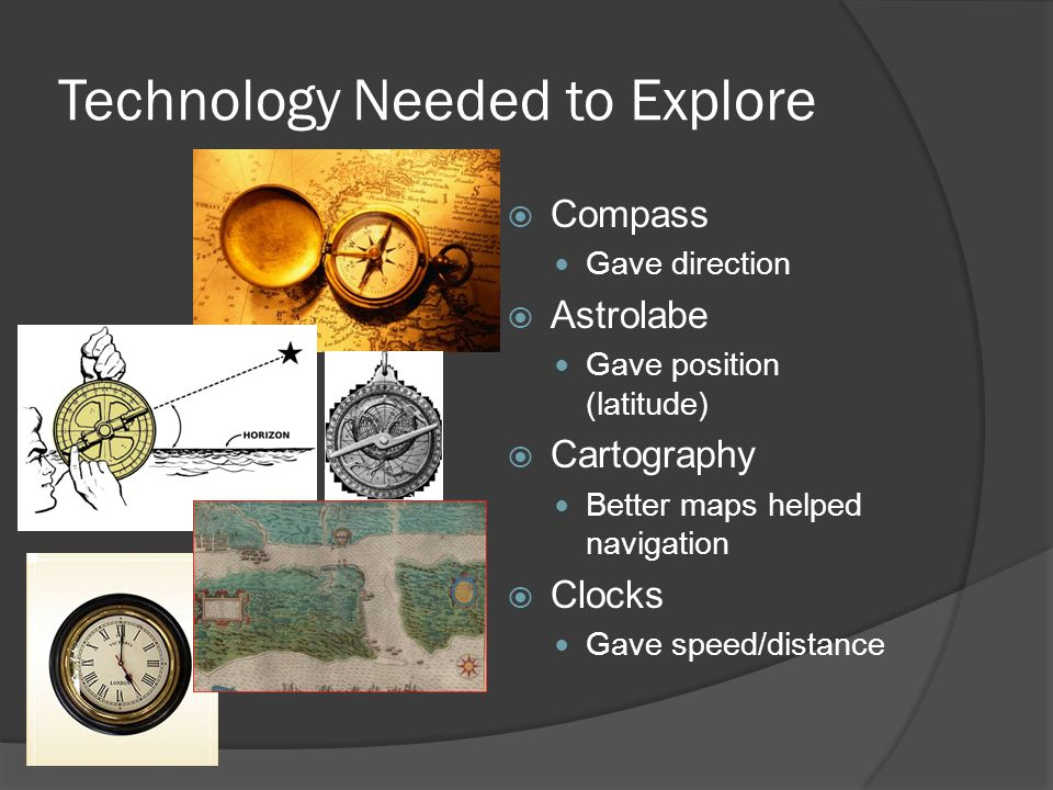 Technology Needed to Explore