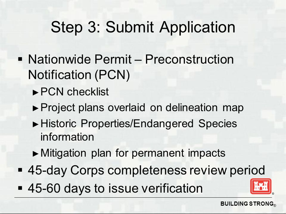 Step 3: Submit Application