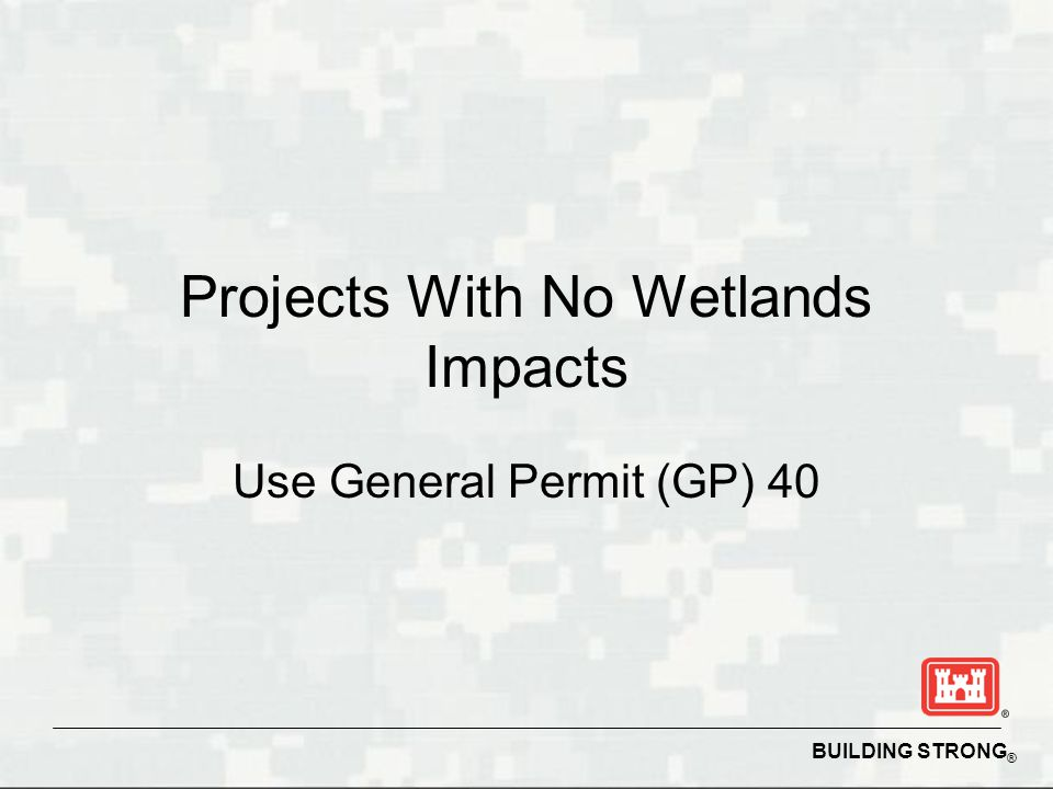 Projects With No Wetlands Impacts