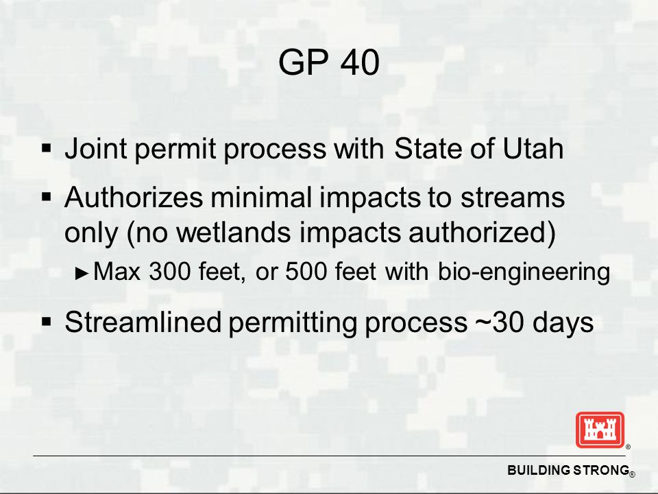 GP 40 Joint permit process with State of Utah
