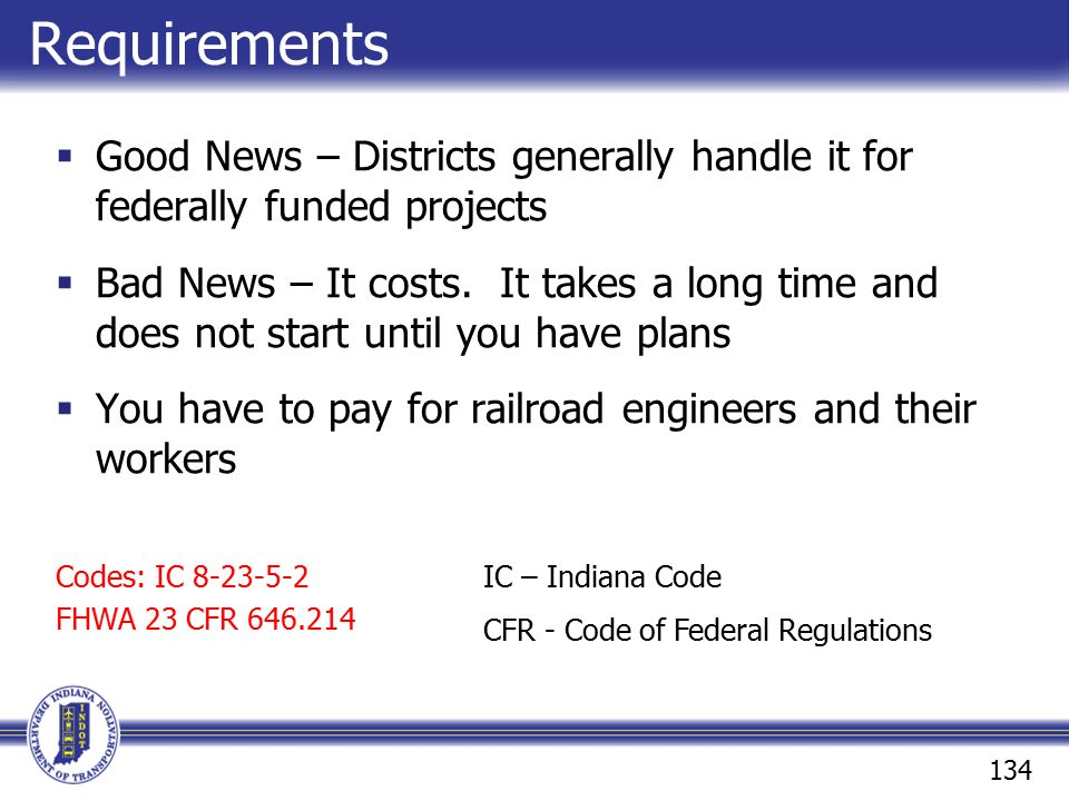 Requirements Good News – Districts generally handle it for federally funded projects.