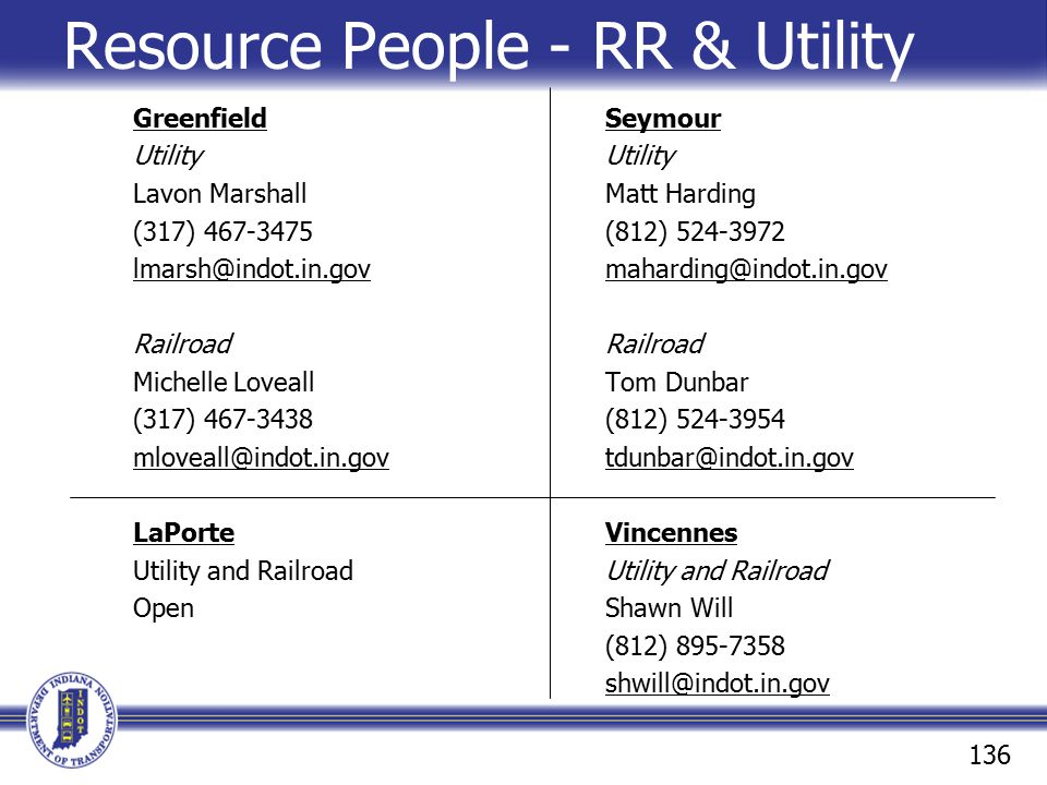 Resource People - RR & Utility