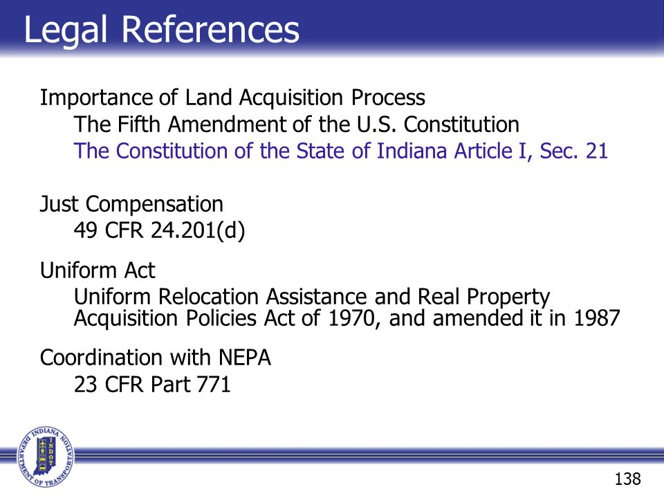 Legal References Importance of Land Acquisition Process