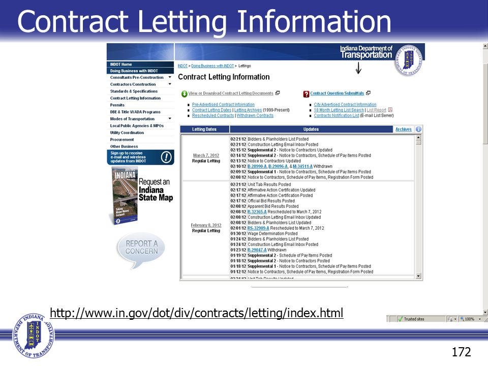 Contract Letting Information