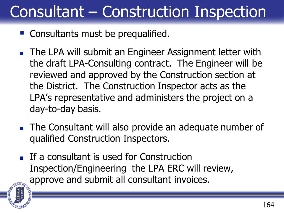 Consultant – Construction Inspection