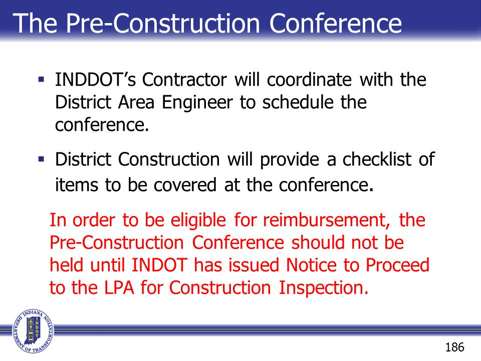 The Pre-Construction Conference