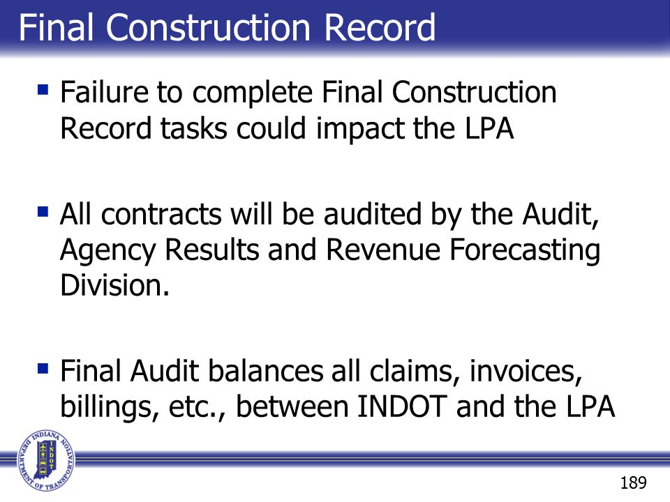 Final Construction Record
