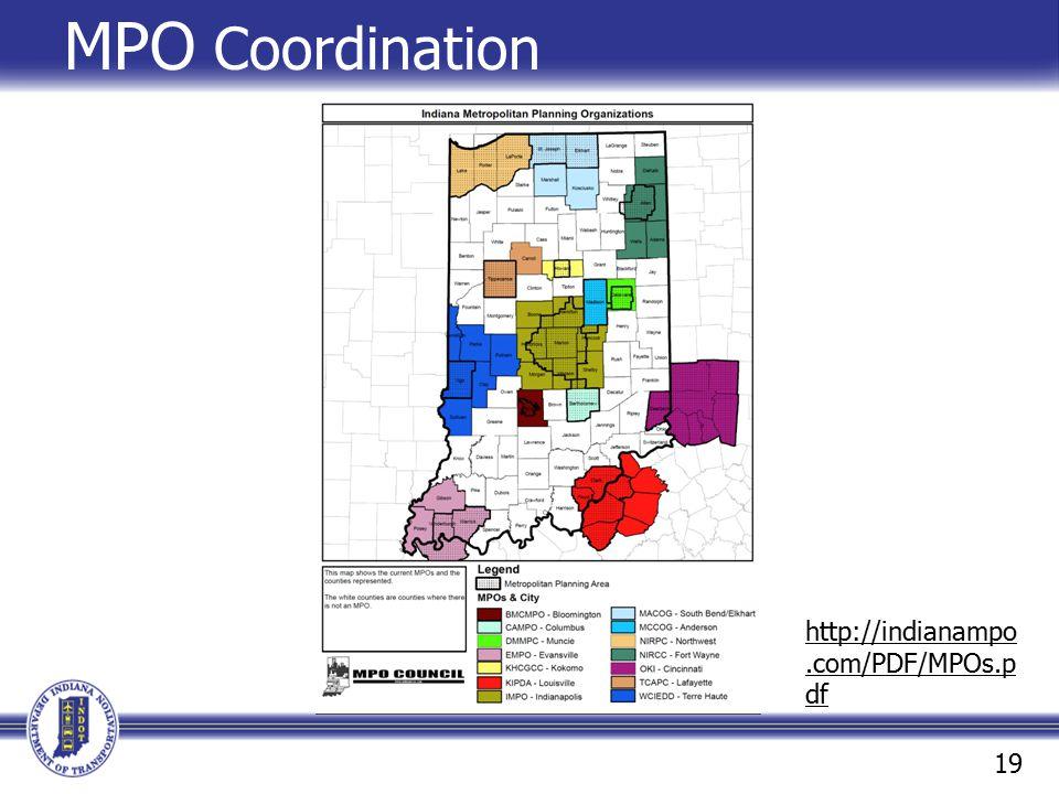 MPO Coordination http://indianampo.com/PDF/MPOs.pdf 19