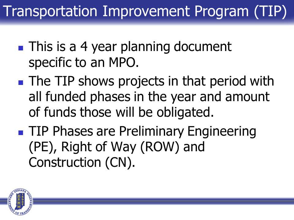 Transportation Improvement Program (TIP)