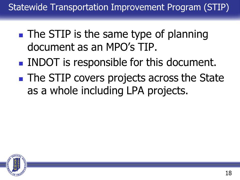 Statewide Transportation Improvement Program (STIP)