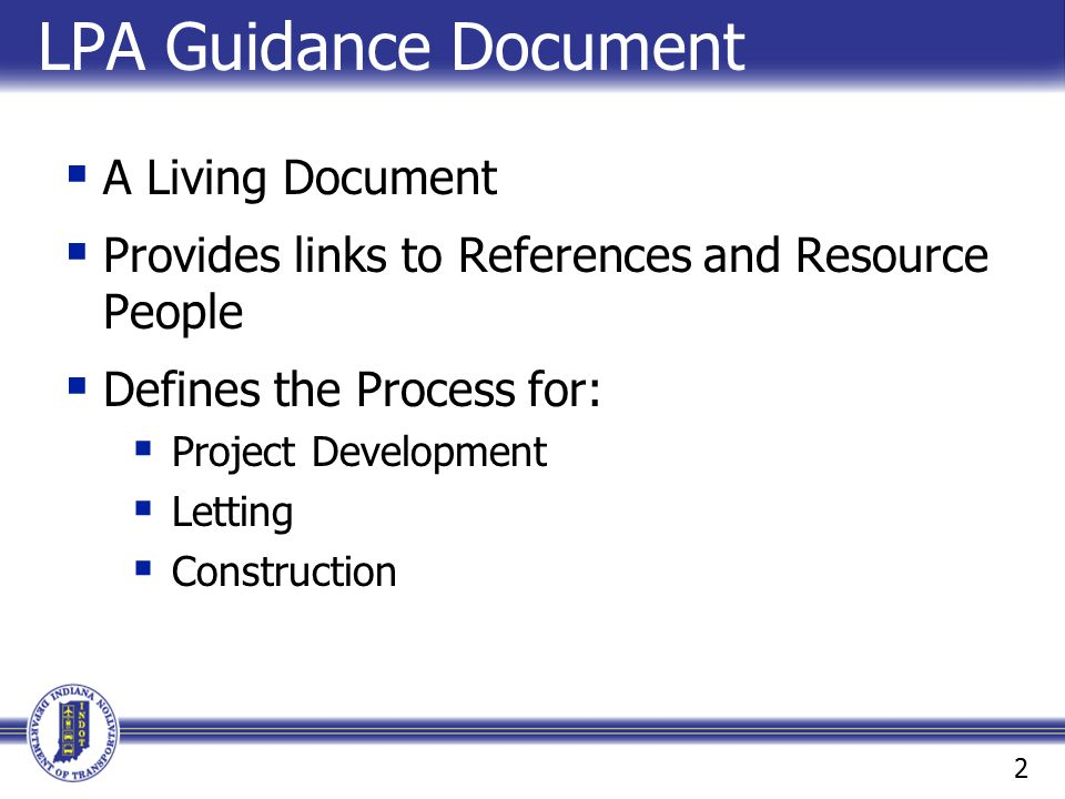 LPA Guidance Document A Living Document