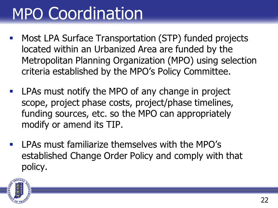 MPO Coordination