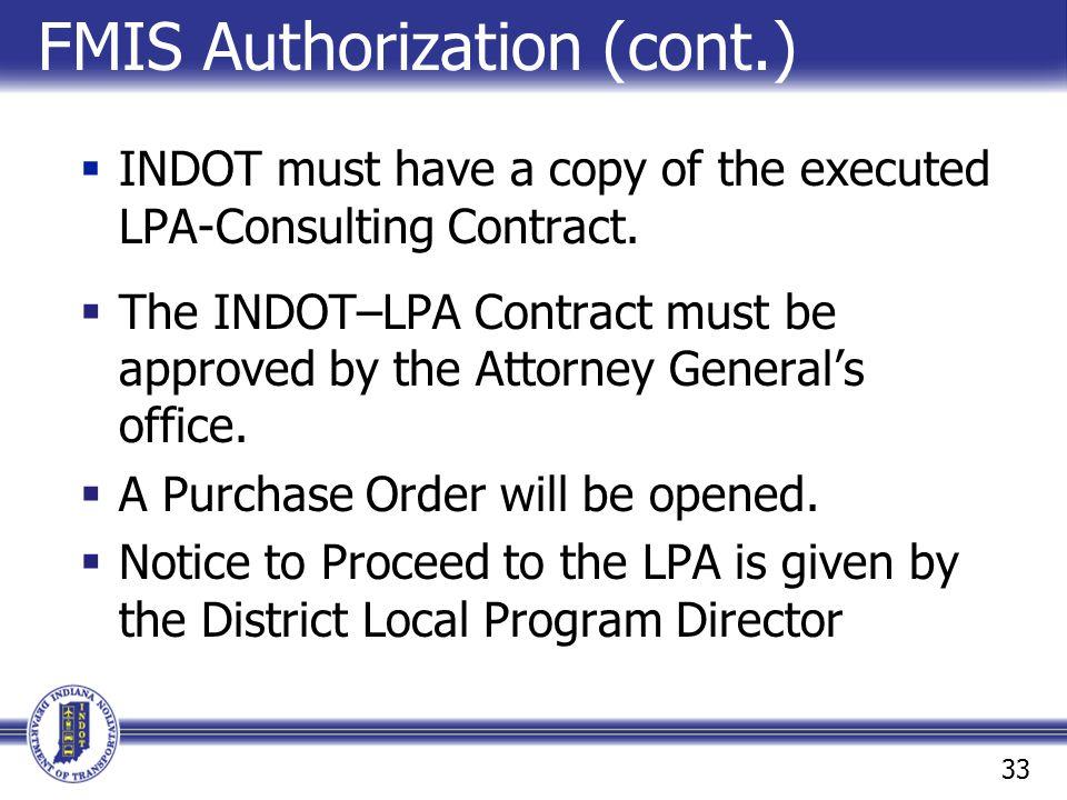 FMIS Authorization (cont.)