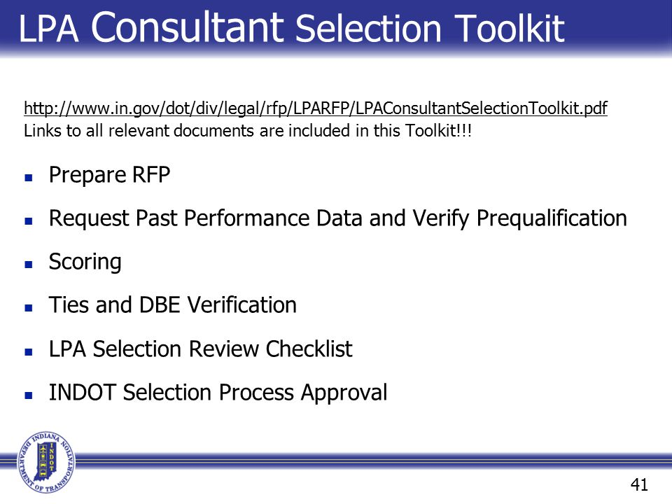 LPA Consultant Selection Toolkit