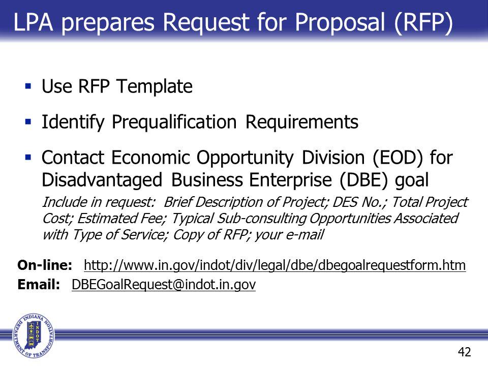 LPA prepares Request for Proposal (RFP)