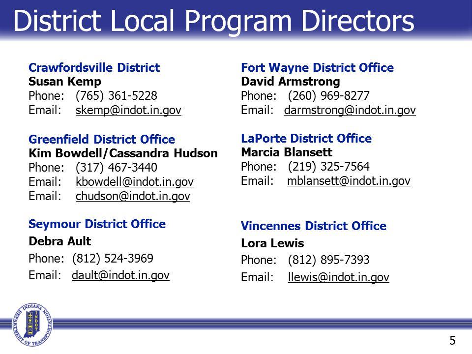 District Local Program Directors