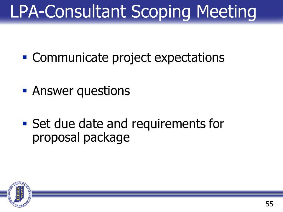 LPA-Consultant Scoping Meeting