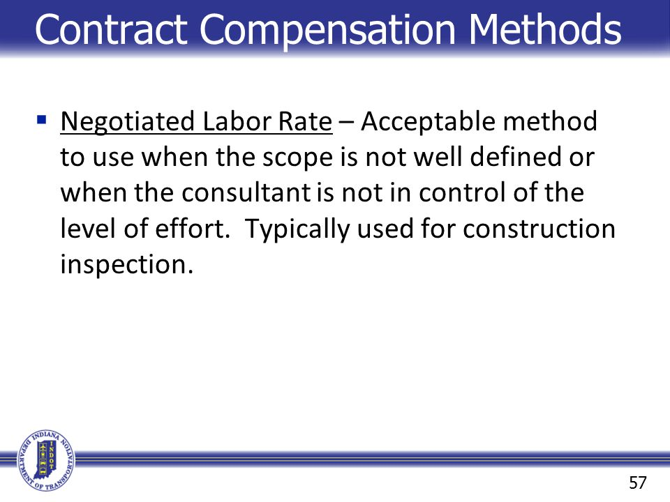 Contract Compensation Methods