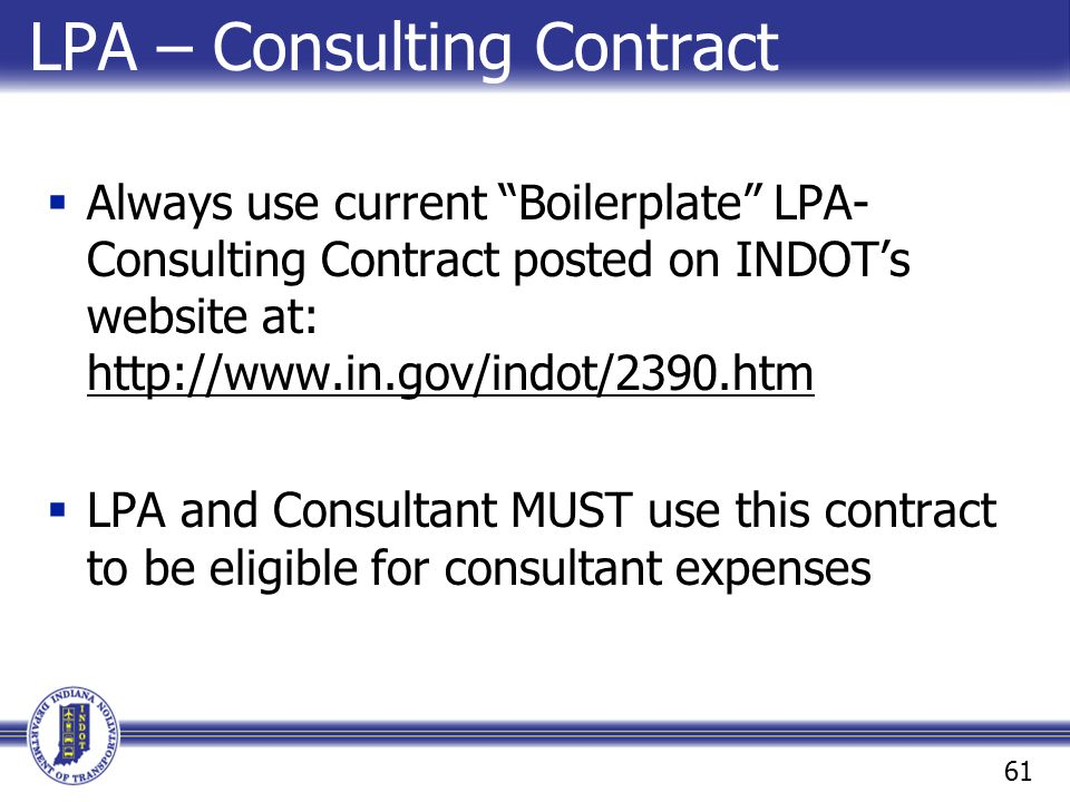 LPA – Consulting Contract