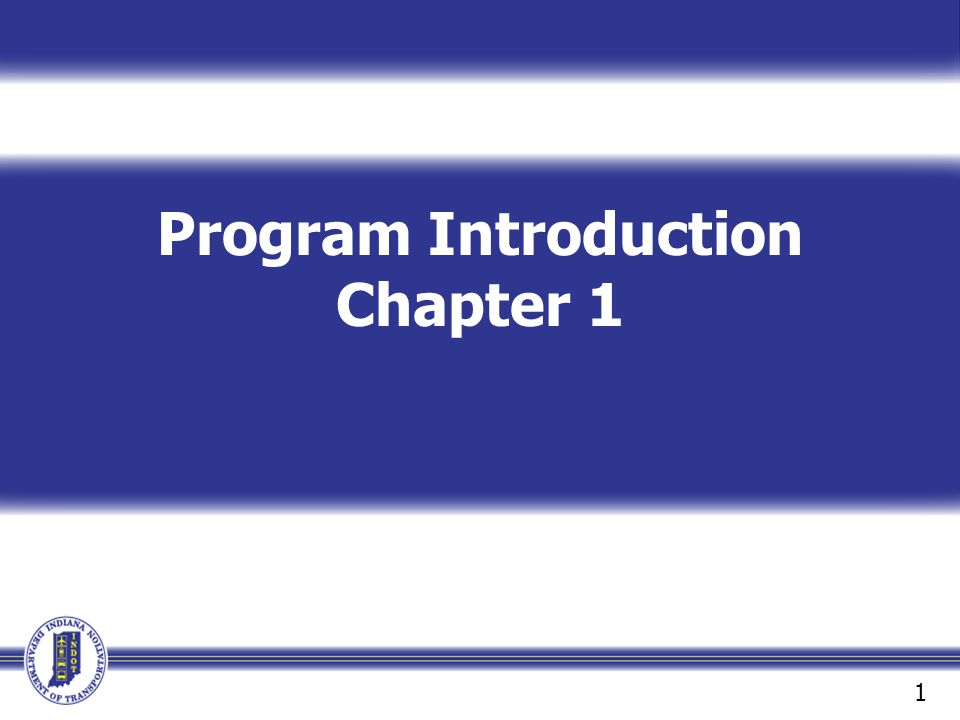 Program Introduction Chapter 1