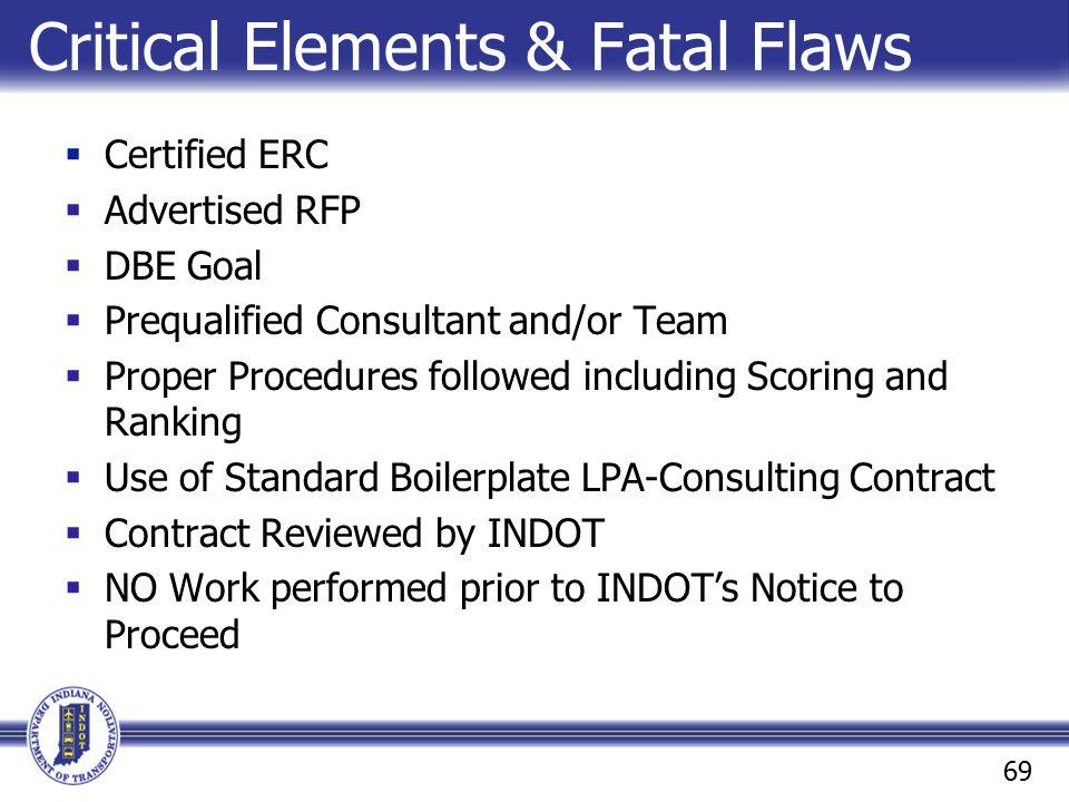 Critical Elements & Fatal Flaws