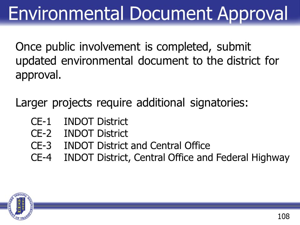 Environmental Document Approval