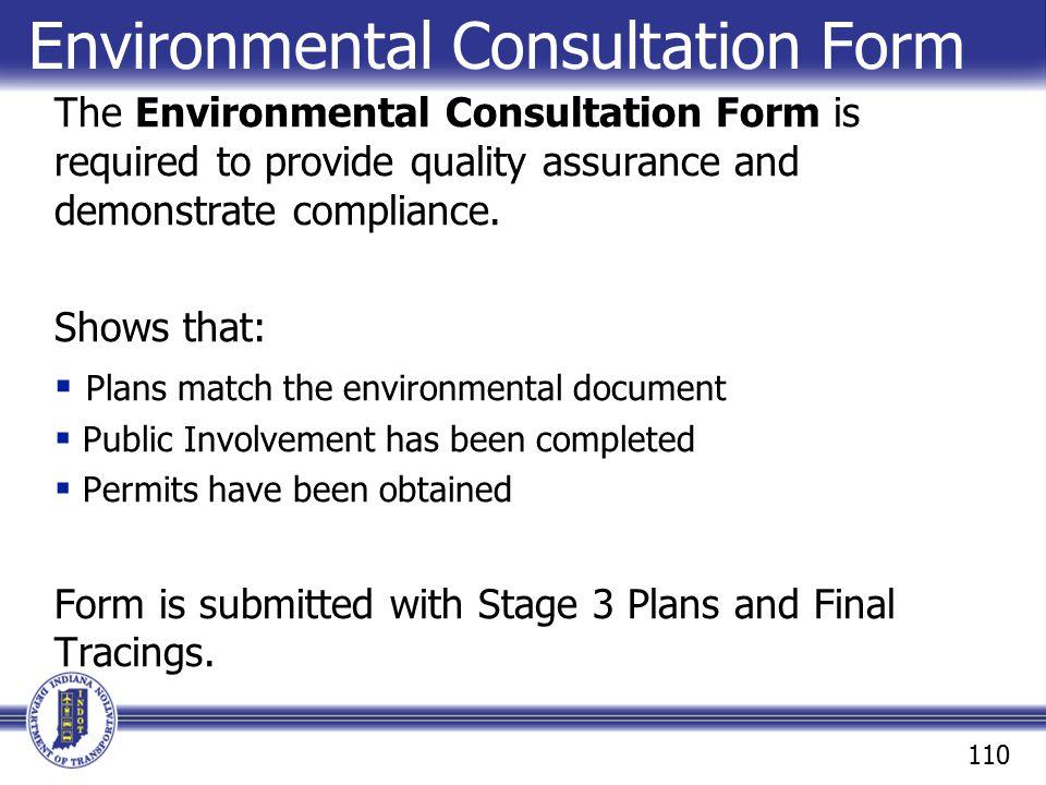 Environmental Consultation Form