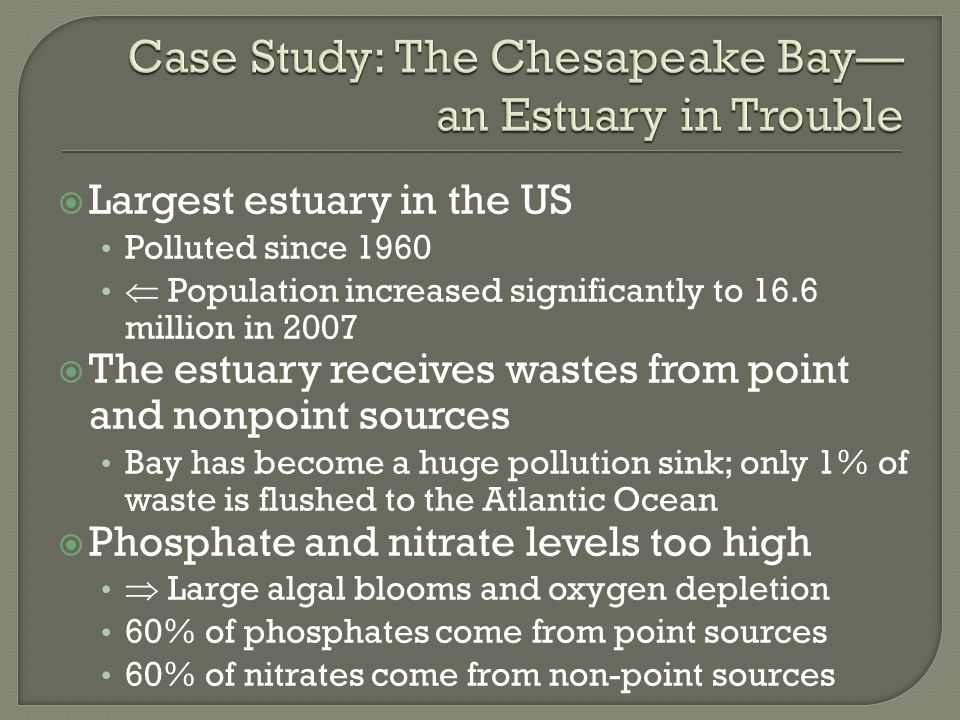 Case Study: The Chesapeake Bay— an Estuary in Trouble