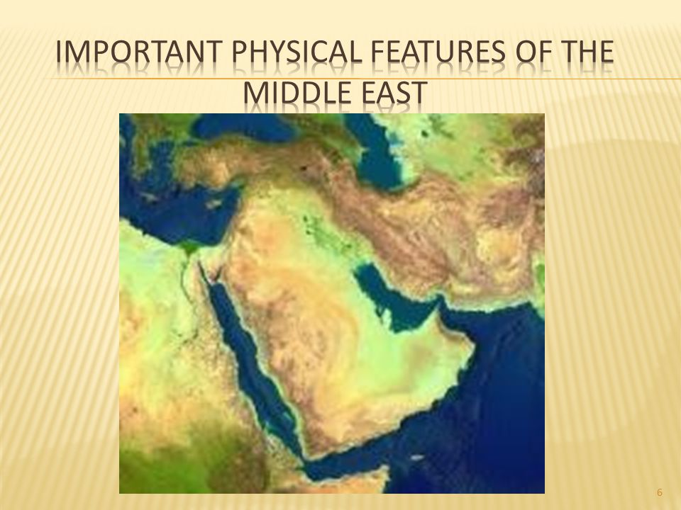 Important Physical Features of the Middle East